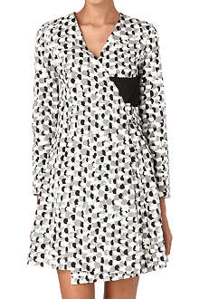 JW ANDERSON Painted buckle-wrap dress
