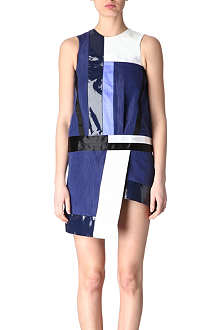 EUDON CHOI Colour-block panel dress