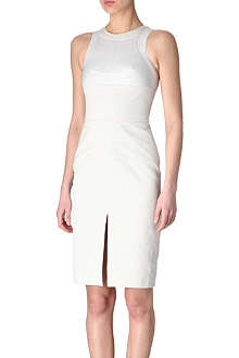 EUDON CHOI Mesh-detail panel dress