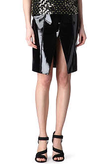 EUDON CHOI Tyzack patent-leather skirt
