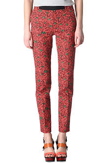 KENZO Patterned straight-leg trousers