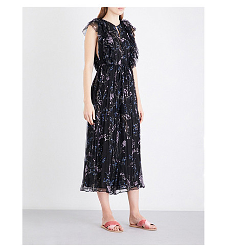 ZIMMERMANN Paradiso Floating silk-georgette jumpsuit (Black+floral