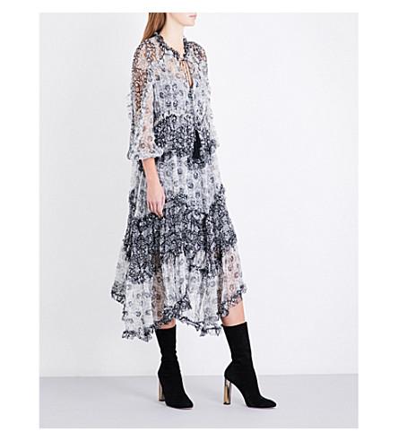 ZIMMERMANN Divinity ruffled silk-chiffon dress (Spliced+b/w