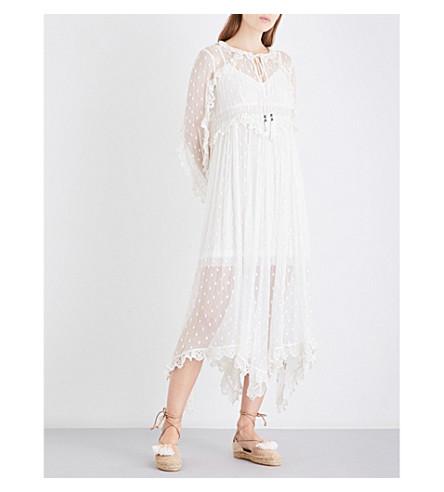 ZIMMERMANN Divinity Scallop silk-georgette midi dress (Ivory
