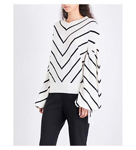 ZIMMERMANN Maples Louche wool and cashmere-blend jumper (Stripe