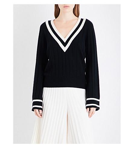 ZIMMERMANN Maples Cricket wool and cashmere-blend jumper (Black