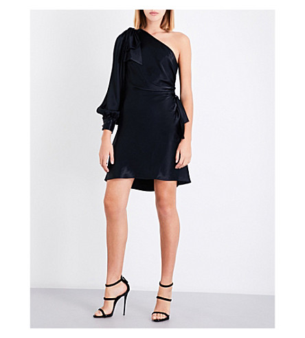 ZIMMERMANN Bow satin-crepe mini dress (Black