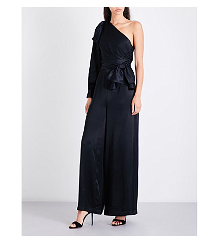 ZIMMERMANN Bow satin-crepe jumpsuit (Black