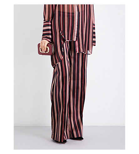 ZIMMERMANN Folly Uniform flared cotton-blend trousers (Stripe