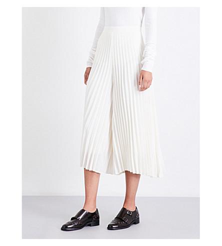 ZIMMERMANN Fanned wide-leg cropped pleated trousers (Pearl