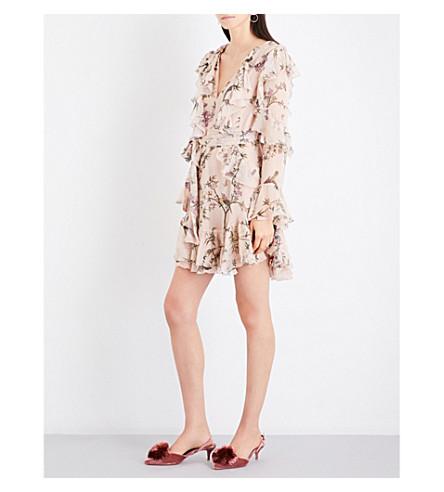 ZIMMERMANN Folly Flutter silk-georgette mini dress (Nectar+floral