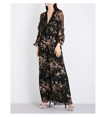 ZIMMERMANN Maples Feathery silk-georgette jumpsuit (Floral