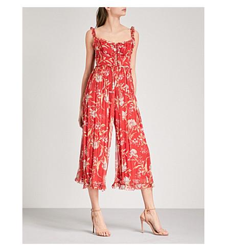 ZIMMERMANN Corsair Iris Corset silk-georgette jumpsuit (Washed+iris+wiri