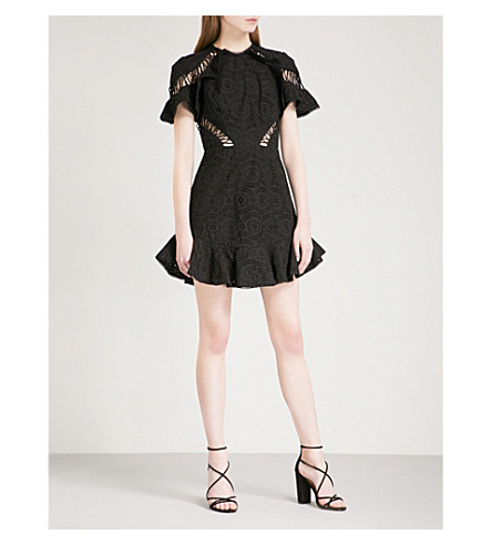 ZIMMERMANN Circle Flutter cotton-broderie anglaise mini dress (Noir