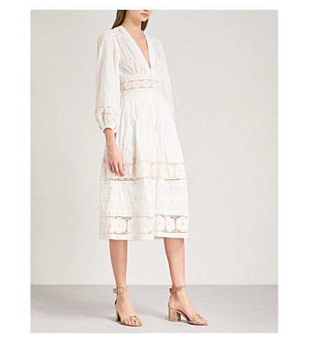 ZIMMERMANN Prima Dot Broiderie Day cotton-voile dress (Ivory+ivo