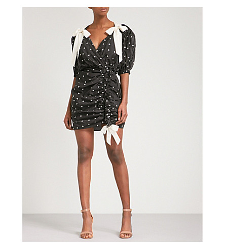 ZIMMERMANN Painted Heart Tie cotton and silk-blend mini dress (Charcoal