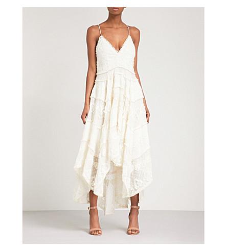 ZIMMERMANN Painted Heart Sun cotton and silk-blend midi dress (Cream+crm