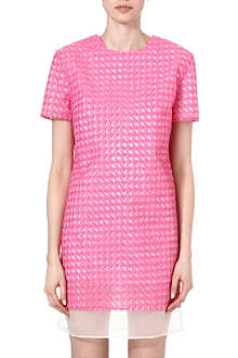 RICHARD NICOLL Houndstooth jacquard shift dress