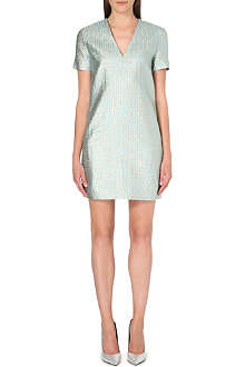 RICHARD NICOLL Metallic jacquard dress