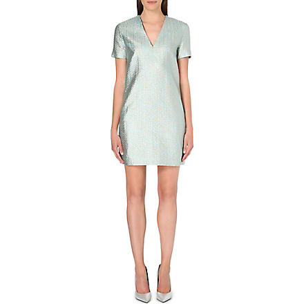 RICHARD NICOLL Metallic jacquard dress (Green
