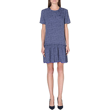 RICHARD NICOLL Dropped peplum-hem dress (Navy