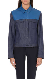 RICHARD NICOLL Leather-panel denim jacket