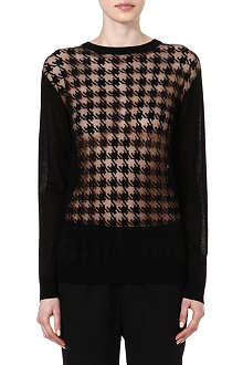 RICHARD NICOLL Sheer houndstooth knitted jumper