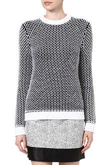 RICHARD NICOLL Mesh-stitch chunky knitted jumper