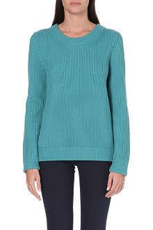 RICHARD NICOLL Fisherman ribbed wool jumper