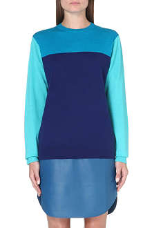 RICHARD NICOLL Colour-blocked cashmere-blend jumper
