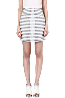 RICHARD NICOLL Lurex-stripe mini skirt