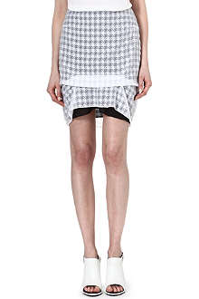 RICHARD NICOLL Draped houndstooth mini skirt