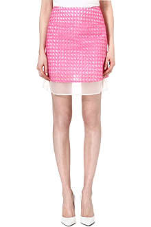 RICHARD NICOLL Houndstooth jacquard mini skirt