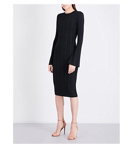 KENDALL & KYLIE Ribbed stretch-knit dress (Black
