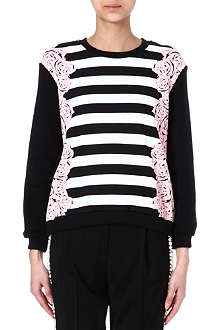MOTHER OF PEARL Striped floral sweatshirt