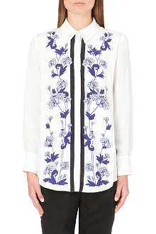 MOTHER OF PEARL Floral-motif silk shirt