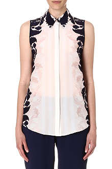 MOTHER OF PEARL Umiko sleeveless silk shirt