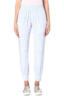 MOTHER OF PEARL Rhea floral-print silk jogging bottoms