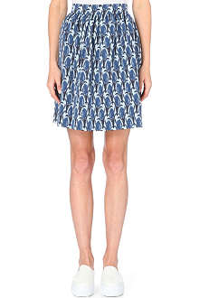 MOTHER OF PEARL Spirea tulip-patterned wool-blend skirt