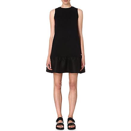 MOTHER OF PEARL Audra peplum-skirt dress (Black