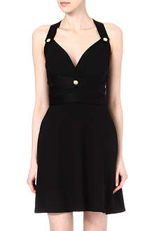 VERSUS Crepe racerback dress
