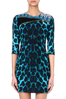 VERSUS Leopard-print jersey dress