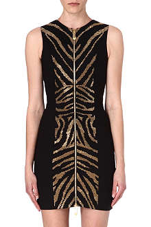 VERSUS Zebra zip dress