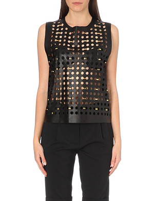 VERSUS X ANTHONY VACCARELLO Pelle cut-out leather top