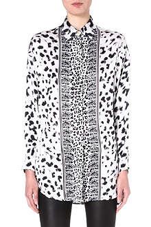 VERSUS Leopard-print silk shirt