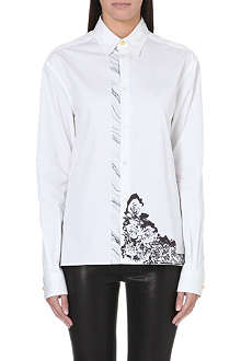 VERSUS X ANTHONY VACCARELLO Rose-print cotton shirt