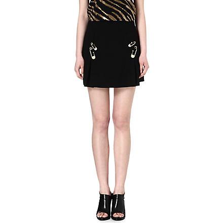 VERSUS Safety-pin skirt (Black