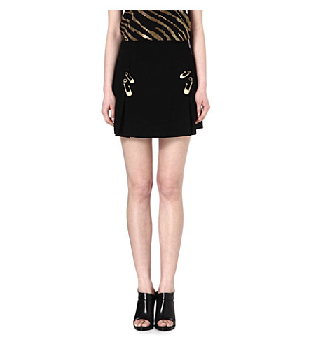 VERSUS Safety-pin skirt (Black