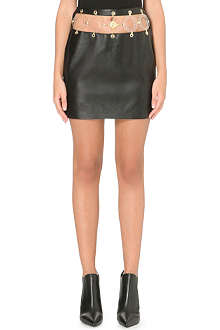VERSUS X ANTHONY VACCARELLO Gonna Tessuto cut-out leather skirt