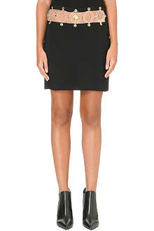 VERSUS X ANTHONY VACCARELLO Gonna Pelle cut-out crepe skirt